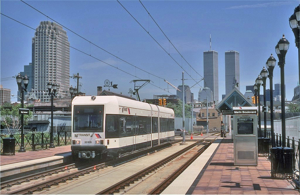 (313k, 1024x668)<br><b>Country:</b> United States<br><b>City:</b> Jersey City, NJ<br><b>System:</b> Hudson Bergen Light Rail<br><b>Location:</b> Marin Boulevard <br><b>Car:</b> NJT-HBLR LRV (Kinki-Sharyo, 1998-99)  2010 <br><b>Photo by:</b> Eric Oszustowicz<br><b>Collection of:</b> Joe Testagrose<br><b>Date:</b> 5/14/2000<br><b>Viewed (this week/total):</b> 3 / 595