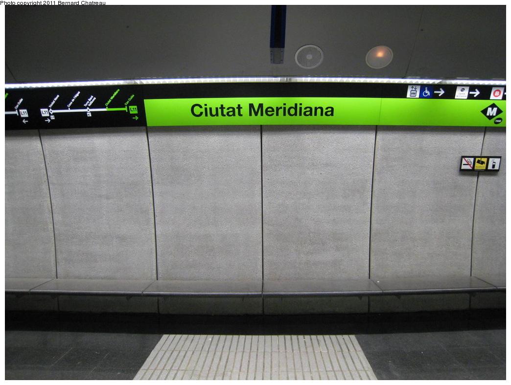 (276k, 1044x788)<br><b>Country:</b> Spain<br><b>City:</b> Barcelona<br><b>System:</b> Ferrocarril Metropolita de Barcelona (FMB)<br><b>Line:</b> FMB L11 (Trinitat Nova - Can Cuiàs)<br><b>Location:</b> Ciutat Meridiana (L11)<br><b>Photo by:</b> Bernard Chatreau<br><b>Date:</b> 2/23/2008<br><b>Viewed (this week/total):</b> 0 / 412