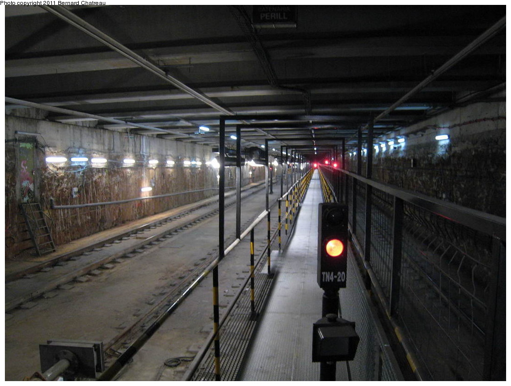 (271k, 1044x788)<br><b>Country:</b> Spain<br><b>City:</b> Barcelona<br><b>System:</b> Ferrocarril Metropolita de Barcelona (FMB)<br><b>Line:</b> FMB L11 (Trinitat Nova - Can Cuiàs)<br><b>Location:</b> Casa de l'Aigua (L11)<br><b>Photo by:</b> Bernard Chatreau<br><b>Date:</b> 2/23/2008<br><b>Viewed (this week/total):</b> 0 / 375