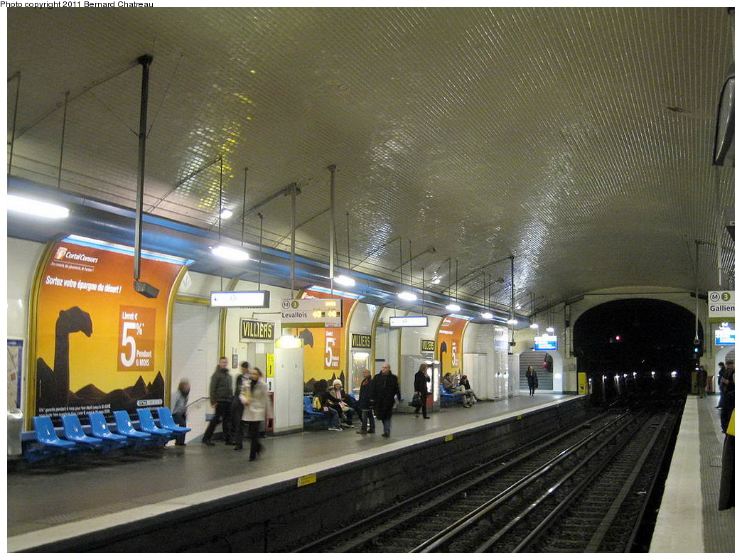 (361k, 1044x788)<br><b>Country:</b> France<br><b>City:</b> Paris<br><b>System:</b> RATP (Régie Autonome des Transports Parisiens)<br><b>Line:</b> Metro Ligne 3<br><b>Location:</b> Villiers<br><b>Photo by:</b> Bernard Chatreau<br><b>Date:</b> 2/14/2008<br><b>Viewed (this week/total):</b> 0 / 334