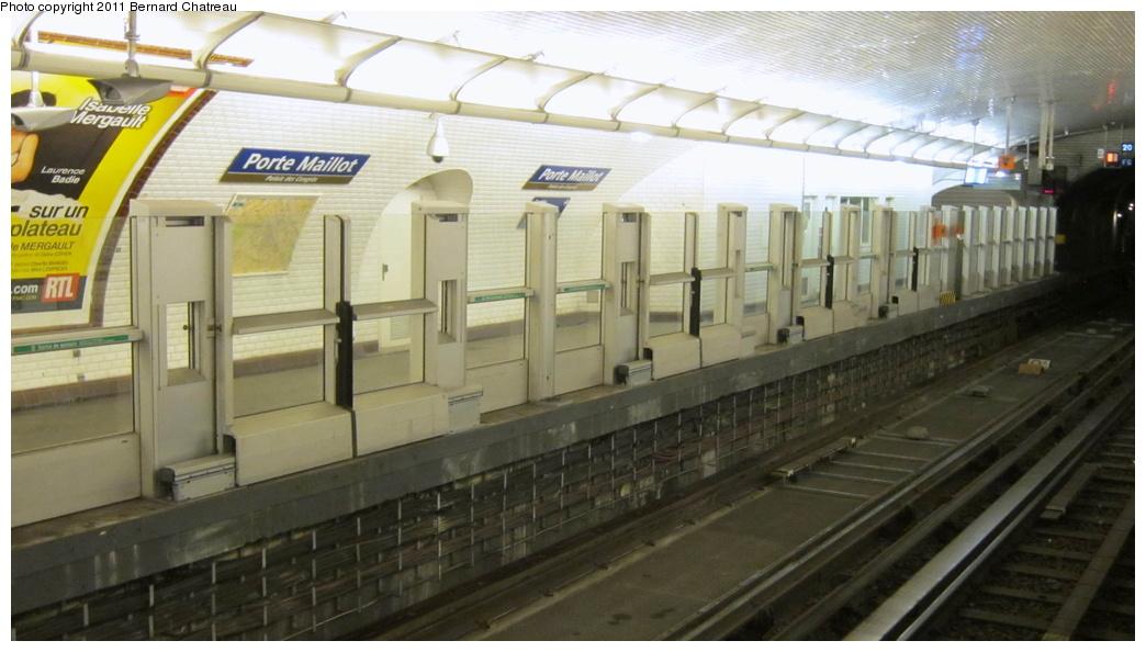 (225k, 1044x594)<br><b>Country:</b> France<br><b>City:</b> Paris<br><b>System:</b> RATP (Régie Autonome des Transports Parisiens)<br><b>Line:</b> Metro Ligne 1<br><b>Location:</b> Porte Maillot <br><b>Photo by:</b> Bernard Chatreau<br><b>Date:</b> 1/11/2011<br><b>Viewed (this week/total):</b> 1 / 358