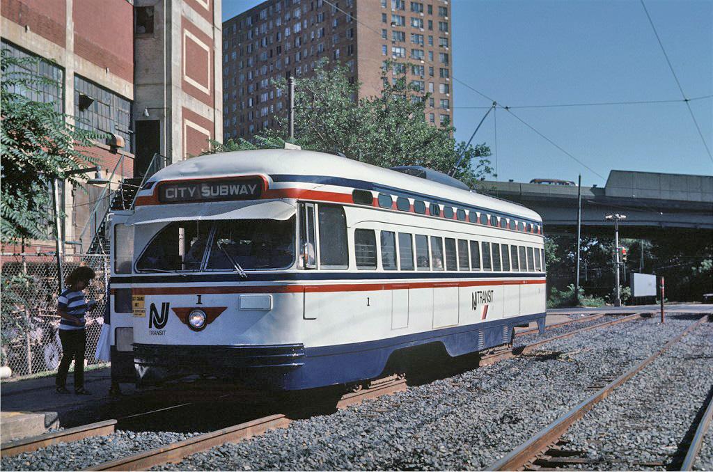 (346k, 1024x678)<br><b>Country:</b> United States<br><b>City:</b> Newark, NJ<br><b>System:</b> Newark City Subway<br><b>Location:</b> Orange Street <br><b>Car:</b> NJTransit/PSCT PCC (Ex-Twin City) (St. Louis Car Co., 1946-1947) 1 <br><b>Photo by:</b> Steve Zabel<br><b>Collection of:</b> Joe Testagrose<br><b>Date:</b> 8/20/1984<br><b>Viewed (this week/total):</b> 1 / 548