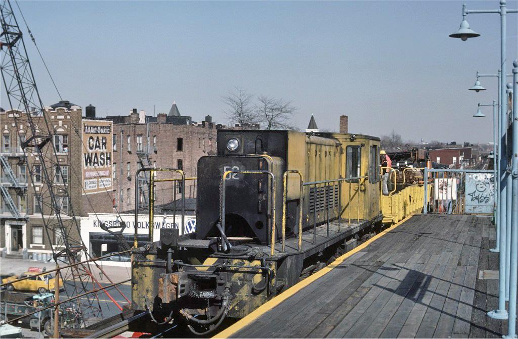 (292k, 1024x671)<br><b>Country:</b> United States<br><b>City:</b> New York<br><b>System:</b> New York City Transit<br><b>Line:</b> BMT Nassau Street/Jamaica Line<br><b>Location:</b> Alabama Avenue <br><b>Route:</b> Work Service<br><b>Car:</b> R-37 Locomotive  52 <br><b>Photo by:</b> Ed McKernan<br><b>Collection of:</b> Joe Testagrose<br><b>Date:</b> 3/21/1977<br><b>Viewed (this week/total):</b> 1 / 1217