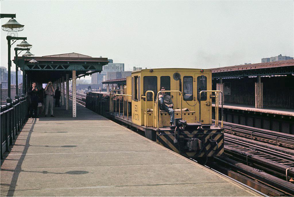 (282k, 1024x689)<br><b>Country:</b> United States<br><b>City:</b> New York<br><b>System:</b> New York City Transit<br><b>Line:</b> IRT Woodlawn Line<br><b>Location:</b> Mt. Eden Avenue <br><b>Route:</b> Work Service<br><b>Car:</b> R-37 Locomotive  53 <br><b>Photo by:</b> Joe Testagrose<br><b>Date:</b> 5/9/1970<br><b>Viewed (this week/total):</b> 3 / 776