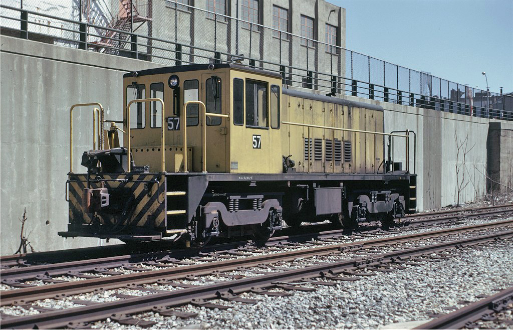 (353k, 1024x658)<br><b>Country:</b> United States<br><b>City:</b> New York<br><b>System:</b> New York City Transit<br><b>Line:</b> South Brooklyn Railway<br><b>Location:</b> 39th St Yard (bet. 4th & 3rd Aves) (SBK)<br><b>Route:</b> Work Service<br><b>Car:</b> R-41 Locomotive  57 <br><b>Collection of:</b> Joe Testagrose<br><b>Date:</b> 3/27/1975<br><b>Viewed (this week/total):</b> 7 / 793