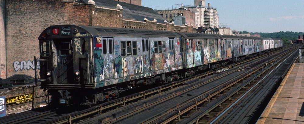 (71k, 1000x409)<br><b>Country:</b> United States<br><b>City:</b> New York<br><b>System:</b> New York City Transit<br><b>Line:</b> IRT West Side Line<br><b>Location:</b> 231st Street <br><b>Route:</b> 1<br><b>Car:</b> R-21 (St. Louis, 1956-57) 7212 <br><b>Photo by:</b> Robert Callahan<br><b>Date:</b> 9/22/1984<br><b>Viewed (this week/total):</b> 0 / 788