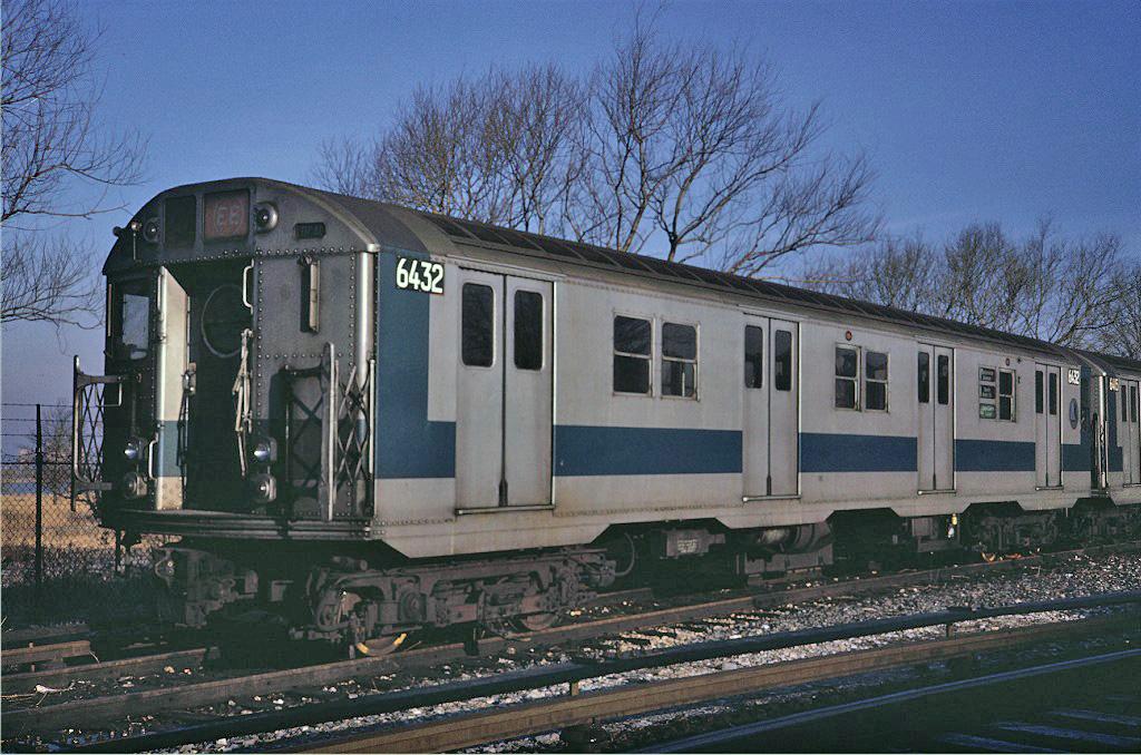 (300k, 1024x678)<br><b>Country:</b> United States<br><b>City:</b> New York<br><b>System:</b> New York City Transit<br><b>Location:</b> Jamaica Yard/Shops<br><b>Car:</b> R-16 (American Car & Foundry, 1955) 6432 <br><b>Photo by:</b> Steve Zabel<br><b>Collection of:</b> Joe Testagrose<br><b>Date:</b> 2/17/1971<br><b>Viewed (this week/total):</b> 0 / 1434