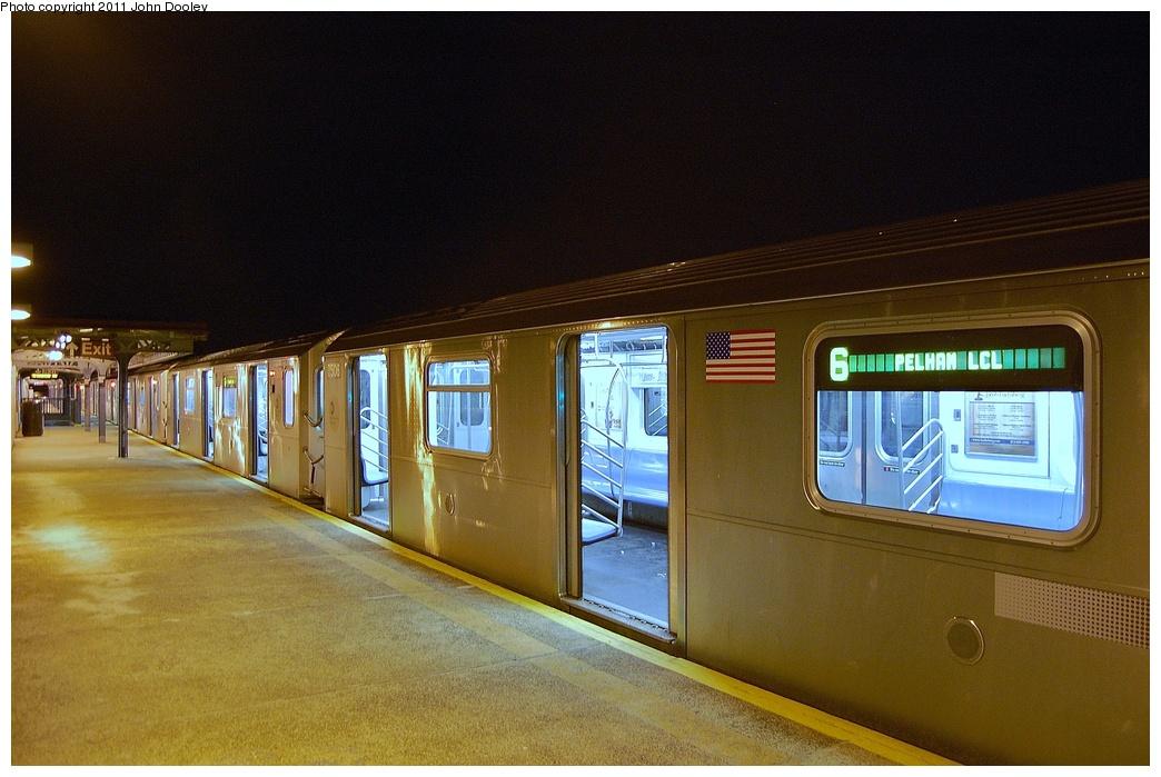 (323k, 1044x699)<br><b>Country:</b> United States<br><b>City:</b> New York<br><b>System:</b> New York City Transit<br><b>Line:</b> IRT Pelham Line<br><b>Location:</b> Pelham Bay Park <br><b>Route:</b> 6<br><b>Car:</b> R-142A (Primary Order, Kawasaki, 1999-2002)  7506 <br><b>Photo by:</b> John Dooley<br><b>Date:</b> 3/2/2011<br><b>Viewed (this week/total):</b> 2 / 1779