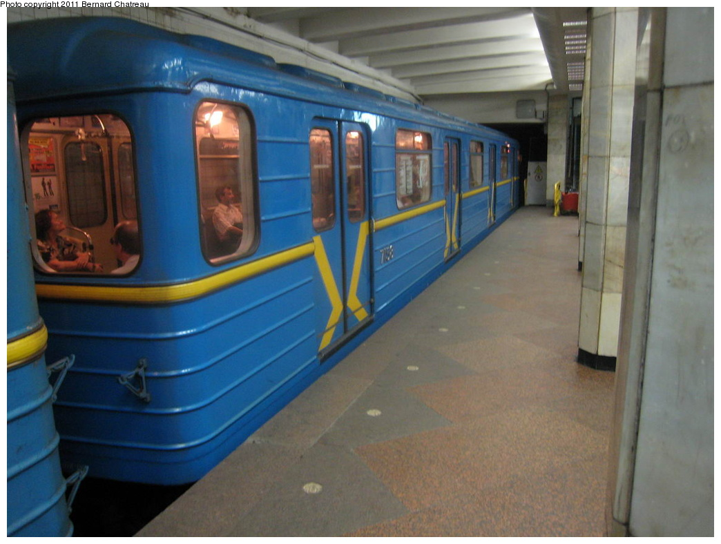 (261k, 1044x788)<br><b>Country:</b> Ukraine<br><b>City:</b> Kiev<br><b>System:</b> Kiev Metro - Київський метрополітен<br><b>Line:</b> Sviatoshynsko-Brovarska (Red/1) - Святошинсько-Броварська <br><b>Location:</b> Sviatoshyn - Святошин <br><b>Car:</b>  7158 <br><b>Photo by:</b> Bernard Chatreau<br><b>Date:</b> 7/3/2007<br><b>Viewed (this week/total):</b> 1 / 355