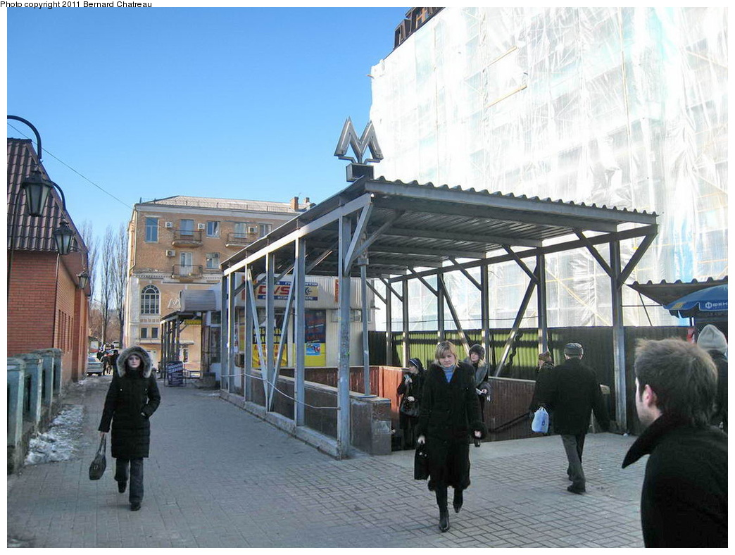 (310k, 1044x788)<br><b>Country:</b> Ukraine<br><b>City:</b> Kiev<br><b>System:</b> Kiev Metro - Київський метрополітен<br><b>Line:</b> Kurenivsko-Chervonoarmiyska (Blue/2) - Куренівсько-Червоноармійська <br><b>Location:</b> Kontraktova Ploshcha - Контрактова площа <br><b>Photo by:</b> Bernard Chatreau<br><b>Date:</b> 2/21/2007<br><b>Viewed (this week/total):</b> 0 / 316