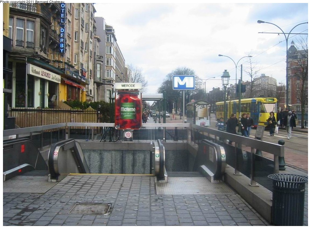 (264k, 1044x768)<br><b>Country:</b> Belgium<br><b>City:</b> Brussels<br><b>System:</b> STIB (Societé des Transports Intercommunaux de Bruxelles) <br><b>Line:</b> Metro 1A/1B <br><b>Location:</b> Mérode (1A/1B) <br><b>Photo by:</b> Bernard Chatreau<br><b>Date:</b> 2/12/2005<br><b>Viewed (this week/total):</b> 4 / 335