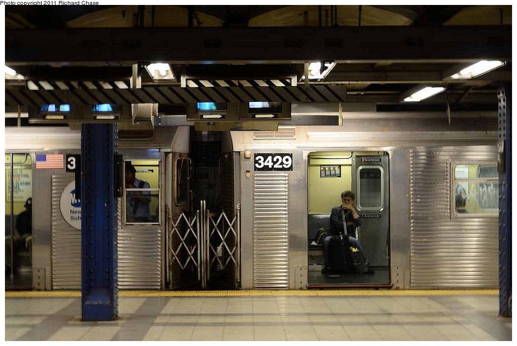 (322k, 1044x699)<br><b>Country:</b> United States<br><b>City:</b> New York<br><b>System:</b> New York City Transit<br><b>Line:</b> IND 8th Avenue Line<br><b>Location:</b> Canal Street-Holland Tunnel <br><b>Route:</b> C<br><b>Car:</b> R-32 (Budd, 1964)  3429 <br><b>Photo by:</b> Richard Chase<br><b>Date:</b> 7/14/2011<br><b>Viewed (this week/total):</b> 3 / 1455