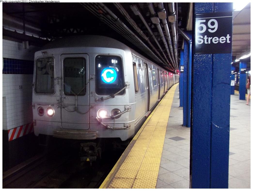 (310k, 1044x788)<br><b>Country:</b> United States<br><b>City:</b> New York<br><b>System:</b> New York City Transit<br><b>Line:</b> IND 8th Avenue Line<br><b>Location:</b> 59th Street/Columbus Circle <br><b>Route:</b> C<br><b>Car:</b> R-46 (Pullman-Standard, 1974-75)  <br><b>Photo by:</b> Christopher Henderson<br><b>Date:</b> 7/22/2011<br><b>Viewed (this week/total):</b> 3 / 1789