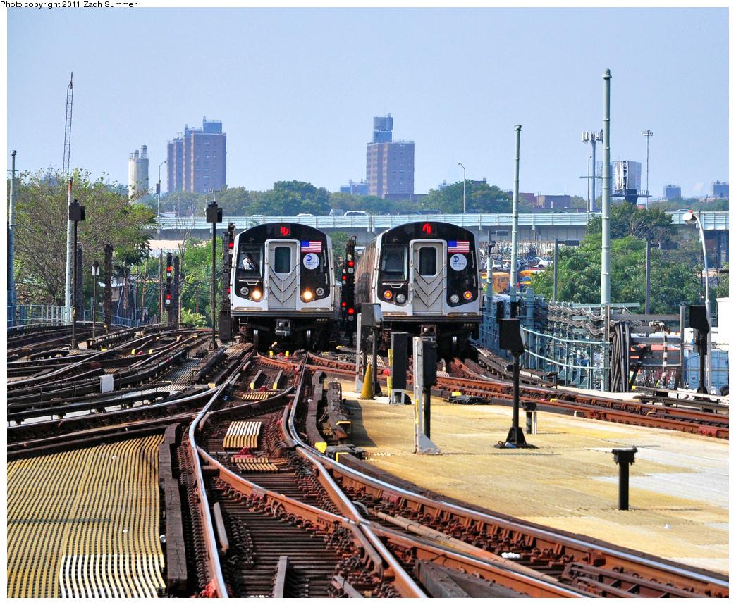 (591k, 1044x859)<br><b>Country:</b> United States<br><b>City:</b> New York<br><b>System:</b> New York City Transit<br><b>Location:</b> Coney Island/Stillwell Avenue<br><b>Route:</b> N<br><b>Car:</b> R-160B (Option 1) (Kawasaki, 2008-2009)  9152 <br><b>Photo by:</b> Zach Summer<br><b>Date:</b> 7/22/2011<br><b>Viewed (this week/total):</b> 1 / 1110
