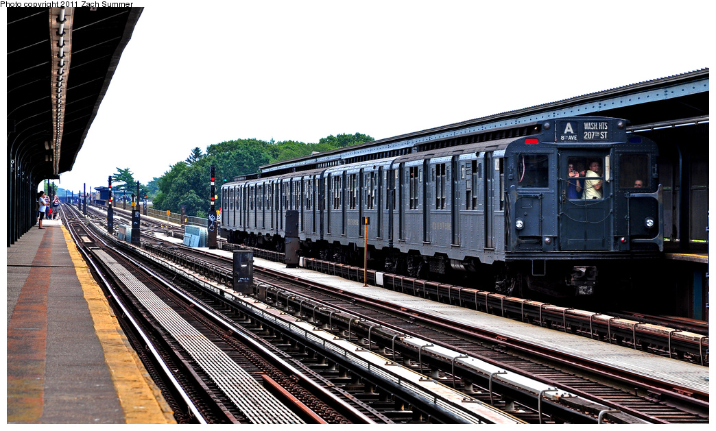 (380k, 1044x629)<br><b>Country:</b> United States<br><b>City:</b> New York<br><b>System:</b> New York City Transit<br><b>Line:</b> IND Fulton Street Line<br><b>Location:</b> 80th Street-Hudson Street<br><b>Route:</b> Transit Museum Nostalgia Train<br><b>Car:</b> R-9 (Pressed Steel, 1940) 1802 <br><b>Photo by:</b> Zach Summer<br><b>Date:</b> 7/23/2011<br><b>Viewed (this week/total):</b> 0 / 1216