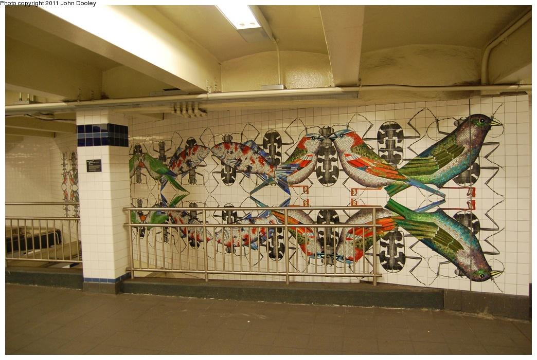 (332k, 1044x701)<br><b>Country:</b> United States<br><b>City:</b> New York<br><b>System:</b> New York City Transit<br><b>Line:</b> IND 8th Avenue Line<br><b>Location:</b> Jay St./Metrotech (Borough Hall) <br><b>Photo by:</b> John Dooley<br><b>Date:</b> 6/27/2011<br><b>Artwork:</b> <i>Departures and Arrivals</i>, Ben Snead (2009).<br><b>Viewed (this week/total):</b> 2 / 1366