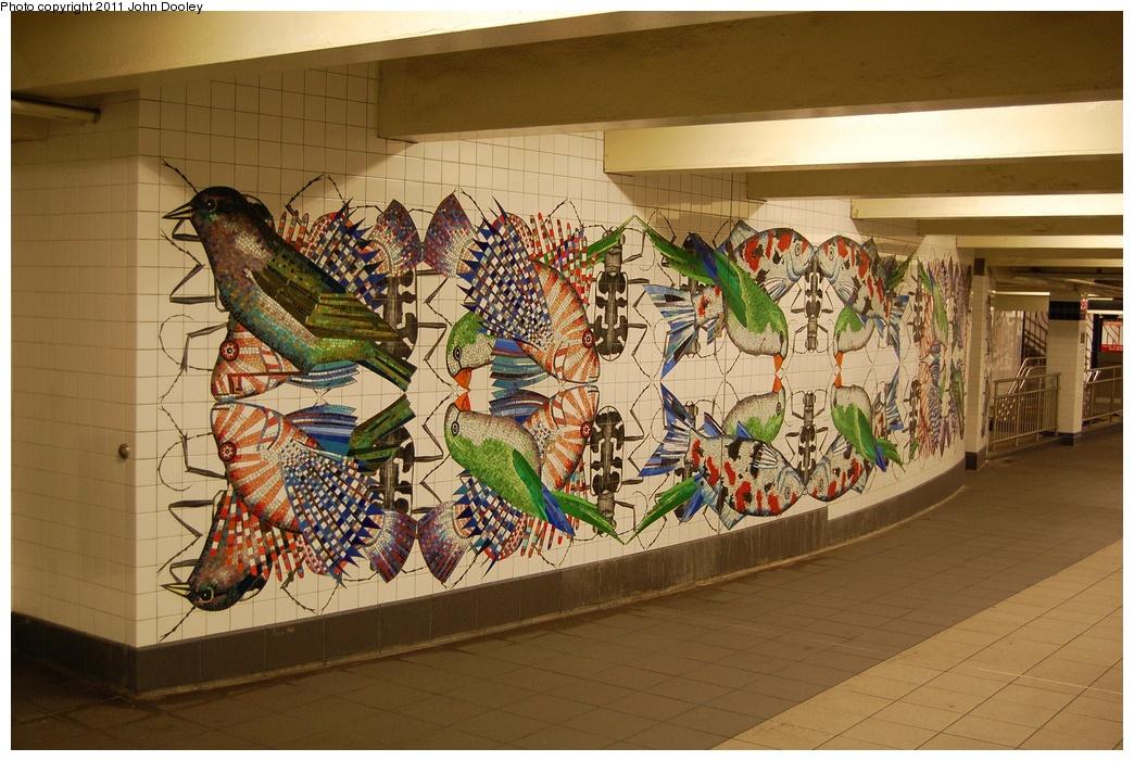 (355k, 1044x701)<br><b>Country:</b> United States<br><b>City:</b> New York<br><b>System:</b> New York City Transit<br><b>Line:</b> IND 8th Avenue Line<br><b>Location:</b> Jay St./Metrotech (Borough Hall) <br><b>Photo by:</b> John Dooley<br><b>Date:</b> 6/27/2011<br><b>Artwork:</b> <i>Departures and Arrivals</i>, Ben Snead (2009).<br><b>Viewed (this week/total):</b> 0 / 1500