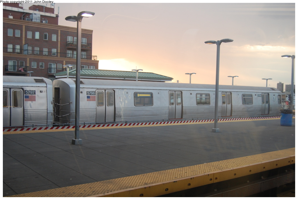 (264k, 1044x701)<br><b>Country:</b> United States<br><b>City:</b> New York<br><b>System:</b> New York City Transit<br><b>Location:</b> Coney Island/Stillwell Avenue<br><b>Route:</b> F<br><b>Car:</b> R-46 (Pullman-Standard, 1974-75) 5796 <br><b>Photo by:</b> John Dooley<br><b>Date:</b> 7/26/2011<br><b>Viewed (this week/total):</b> 1 / 1214