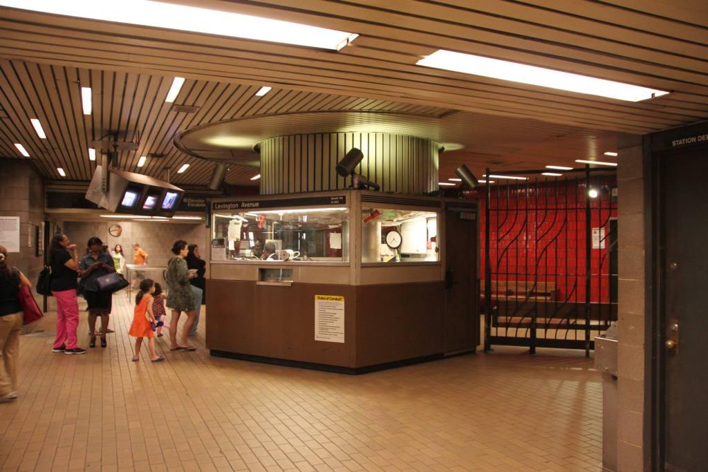 (106k, 1024x683)<br><b>Country:</b> United States<br><b>City:</b> New York<br><b>System:</b> New York City Transit<br><b>Line:</b> IND 63rd Street<br><b>Location:</b> Lexington Avenue-63rd Street <br><b>Photo by:</b> Robbie Rosenfeld<br><b>Date:</b> 6/16/2011<br><b>Notes:</b> Token booth.<br><b>Viewed (this week/total):</b> 0 / 1612