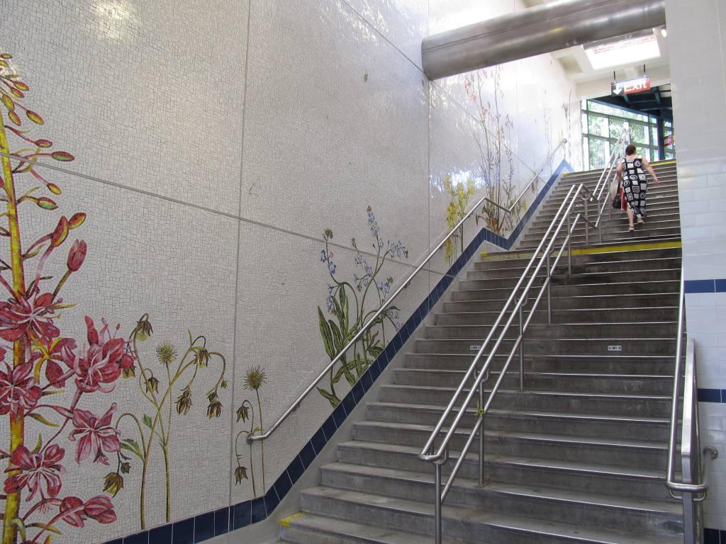 (146k, 1024x768)<br><b>Country:</b> United States<br><b>City:</b> New York<br><b>System:</b> New York City Transit<br><b>Line:</b> BMT Brighton Line<br><b>Location:</b> Avenue U <br><b>Photo by:</b> Robbie Rosenfeld<br><b>Date:</b> 7/12/2011<br><b>Artwork:</b> <i>Brooklyn Seeds</i>, Jason Middlebrook (2011).<br><b>Viewed (this week/total):</b> 0 / 2383