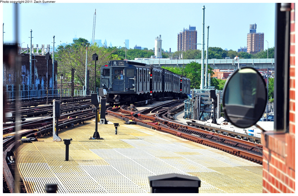 (500k, 1044x687)<br><b>Country:</b> United States<br><b>City:</b> New York<br><b>System:</b> New York City Transit<br><b>Location:</b> Coney Island/Stillwell Avenue<br><b>Route:</b> Transit Museum Nostalgia Train<br><b>Car:</b> R-9 (Pressed Steel, 1940) 1802 <br><b>Photo by:</b> Zach Summer<br><b>Date:</b> 7/23/2011<br><b>Viewed (this week/total):</b> 2 / 1496
