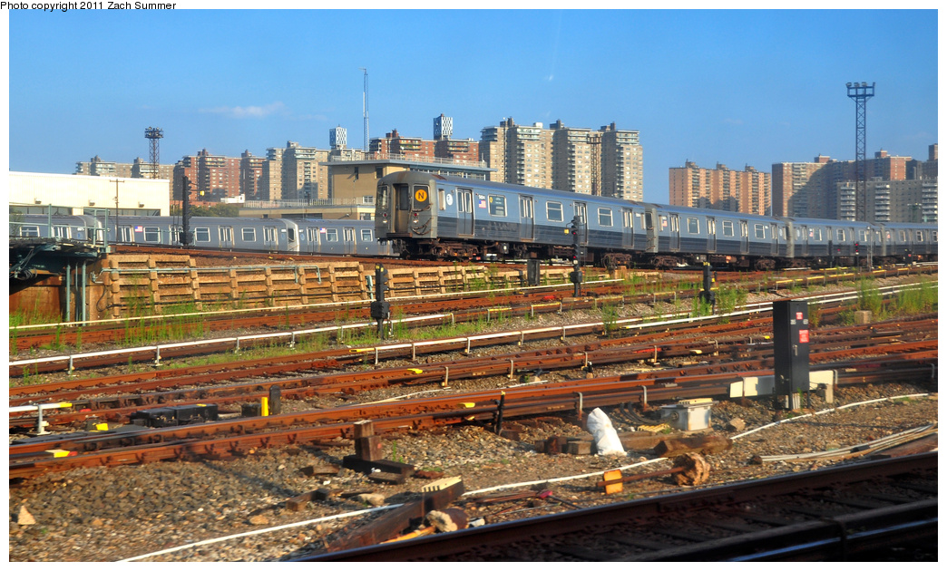 (418k, 1044x630)<br><b>Country:</b> United States<br><b>City:</b> New York<br><b>System:</b> New York City Transit<br><b>Location:</b> Coney Island Yard<br><b>Car:</b> R-68A (Kawasaki, 1988-1989)  5004 <br><b>Photo by:</b> Zach Summer<br><b>Date:</b> 7/26/2011<br><b>Viewed (this week/total):</b> 2 / 1302