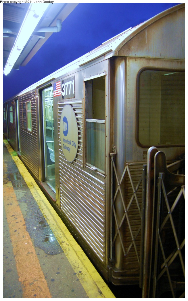 (309k, 654x1044)<br><b>Country:</b> United States<br><b>City:</b> New York<br><b>System:</b> New York City Transit<br><b>Line:</b> IND Fulton Street Line<br><b>Location:</b> Lefferts Boulevard <br><b>Route:</b> A<br><b>Car:</b> R-32 (Budd, 1964)  3771 <br><b>Photo by:</b> John Dooley<br><b>Date:</b> 7/29/2011<br><b>Viewed (this week/total):</b> 0 / 764