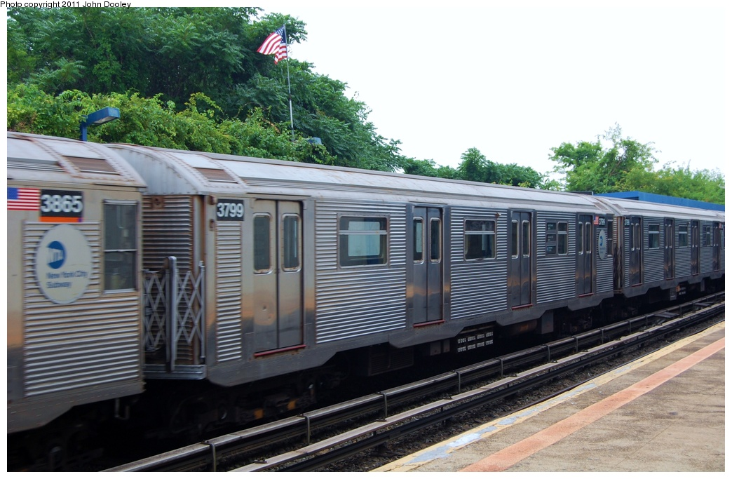 (308k, 1044x683)<br><b>Country:</b> United States<br><b>City:</b> New York<br><b>System:</b> New York City Transit<br><b>Line:</b> IND Rockaway<br><b>Location:</b> Broad Channel <br><b>Route:</b> A<br><b>Car:</b> R-32 (Budd, 1964)  3799 <br><b>Photo by:</b> John Dooley<br><b>Date:</b> 7/24/2011<br><b>Viewed (this week/total):</b> 2 / 646