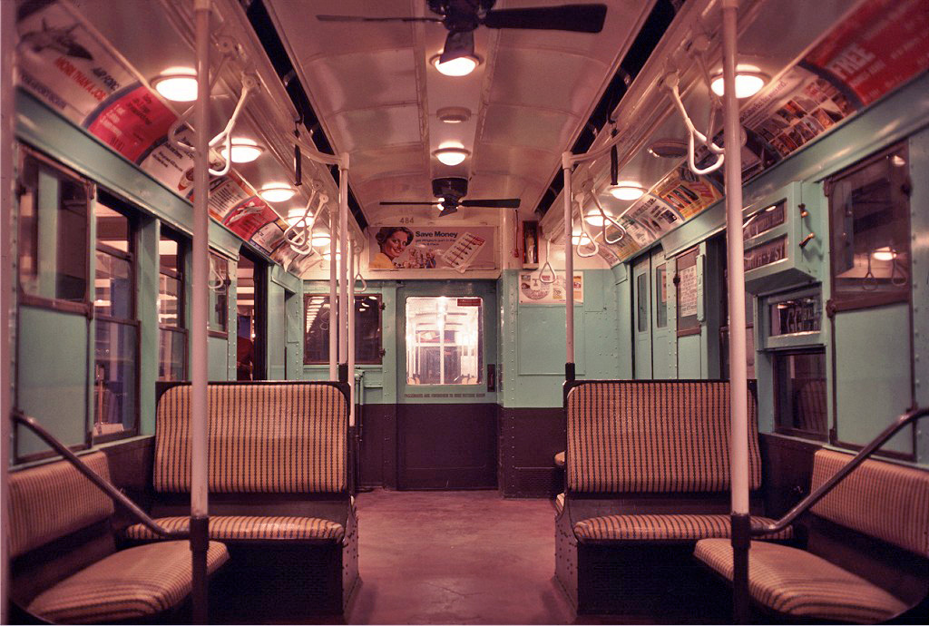 (298k, 1024x690)<br><b>Country:</b> United States<br><b>City:</b> New York<br><b>System:</b> New York City Transit<br><b>Location:</b> New York Transit Museum<br><b>Car:</b> R-4 (American Car & Foundry, 1932-1933) 484 <br><b>Photo by:</b> Doug Grotjahn<br><b>Collection of:</b> Joe Testagrose<br><b>Date:</b> 9/19/1976<br><b>Viewed (this week/total):</b> 0 / 1127