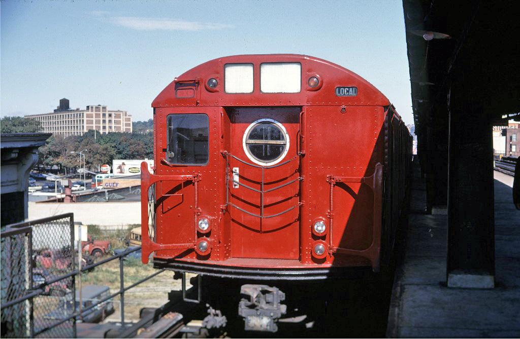 (250k, 1024x669)<br><b>Country:</b> United States<br><b>City:</b> New York<br><b>System:</b> New York City Transit<br><b>Line:</b> BMT Culver Line<br><b>Location:</b> Ditmas Avenue-Shuttle<br><b>Route:</b> Culver Shuttle<br><b>Car:</b> R-16 (American Car & Foundry, 1955) 6476 <br><b>Photo by:</b> Doug Grotjahn<br><b>Collection of:</b> Joe Testagrose<br><b>Date:</b> 10/5/1968<br><b>Viewed (this week/total):</b> 5 / 1207