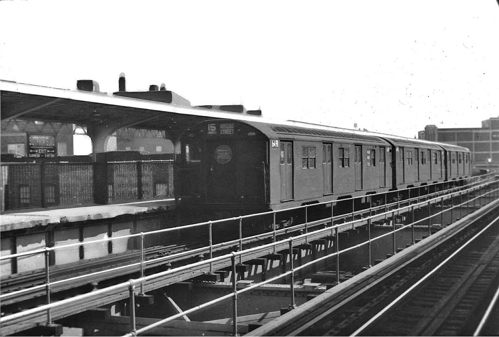 (196k, 1024x692)<br><b>Country:</b> United States<br><b>City:</b> New York<br><b>System:</b> New York City Transit<br><b>Line:</b> BMT Nassau Street/Jamaica Line<br><b>Location:</b> Sutphin Boulevard (Demolished) <br><b>Route:</b> BMT 15<br><b>Car:</b> R-16 (American Car & Foundry, 1955) 6491 <br><b>Collection of:</b> Joe Testagrose<br><b>Viewed (this week/total):</b> 4 / 1394