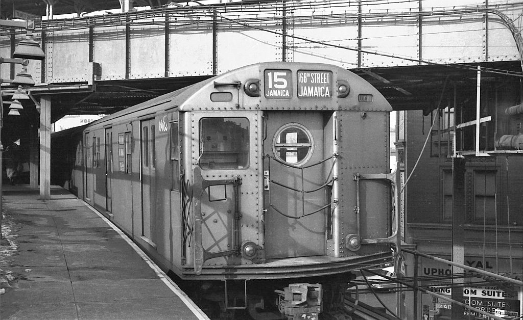 (260k, 1024x628)<br><b>Country:</b> United States<br><b>City:</b> New York<br><b>System:</b> New York City Transit<br><b>Line:</b> BMT Nassau Street/Jamaica Line<br><b>Location:</b> Myrtle Avenue <br><b>Route:</b> BMT 15<br><b>Car:</b> R-16 (American Car & Foundry, 1955) 6463 <br><b>Collection of:</b> John Barnes<br><b>Viewed (this week/total):</b> 2 / 1362