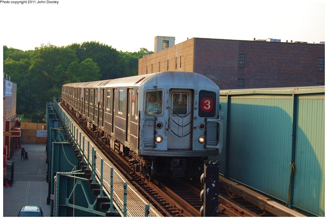 (303k, 1044x701)<br><b>Country:</b> United States<br><b>City:</b> New York<br><b>System:</b> New York City Transit<br><b>Line:</b> IRT Brooklyn Line<br><b>Location:</b> Sutter Avenue/Rutland Road <br><b>Route:</b> 3<br><b>Car:</b> R-62 (Kawasaki, 1983-1985)  1390 <br><b>Photo by:</b> John Dooley<br><b>Date:</b> 6/28/2011<br><b>Viewed (this week/total):</b> 1 / 1138