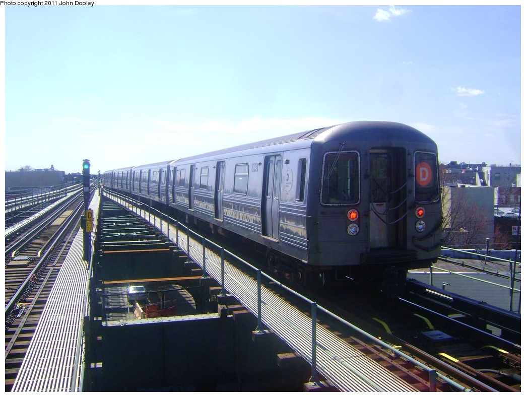 (300k, 1044x788)<br><b>Country:</b> United States<br><b>City:</b> New York<br><b>System:</b> New York City Transit<br><b>Line:</b> BMT West End Line<br><b>Location:</b> 62nd Street <br><b>Route:</b> D<br><b>Car:</b> R-68 (Westinghouse-Amrail, 1986-1988)  2848 <br><b>Photo by:</b> John Dooley<br><b>Date:</b> 3/25/2011<br><b>Viewed (this week/total):</b> 0 / 774