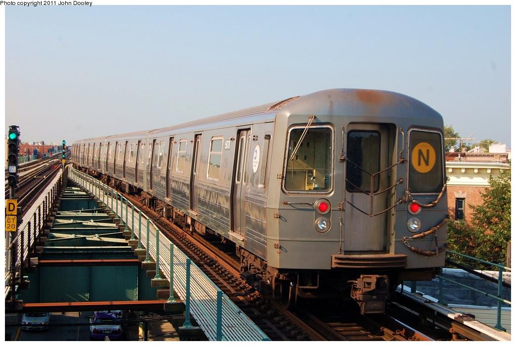 (313k, 1044x701)<br><b>Country:</b> United States<br><b>City:</b> New York<br><b>System:</b> New York City Transit<br><b>Line:</b> BMT West End Line<br><b>Location:</b> 62nd Street <br><b>Route:</b> N reroute<br><b>Car:</b> R-68A (Kawasaki, 1988-1989)  5078 <br><b>Photo by:</b> John Dooley<br><b>Date:</b> 7/23/2011<br><b>Viewed (this week/total):</b> 0 / 899