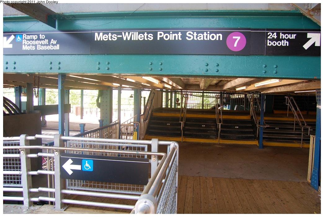 (355k, 1044x701)<br><b>Country:</b> United States<br><b>City:</b> New York<br><b>System:</b> New York City Transit<br><b>Line:</b> IRT Flushing Line<br><b>Location:</b> Willets Point/Mets (fmr. Shea Stadium) <br><b>Photo by:</b> John Dooley<br><b>Date:</b> 6/27/2011<br><b>Viewed (this week/total):</b> 0 / 1153