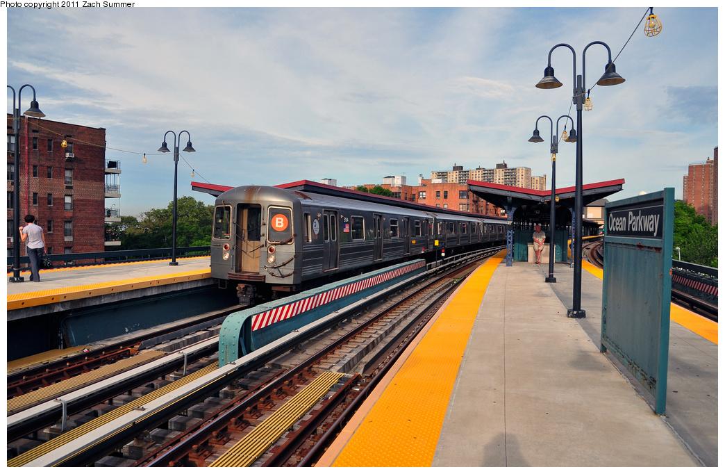 (392k, 1044x682)<br><b>Country:</b> United States<br><b>City:</b> New York<br><b>System:</b> New York City Transit<br><b>Line:</b> BMT Brighton Line<br><b>Location:</b> Ocean Parkway <br><b>Route:</b> B Put-In<br><b>Car:</b> R-68A (Kawasaki, 1988-1989)  5194 <br><b>Photo by:</b> Zach Summer<br><b>Date:</b> 7/28/2011<br><b>Viewed (this week/total):</b> 0 / 1062