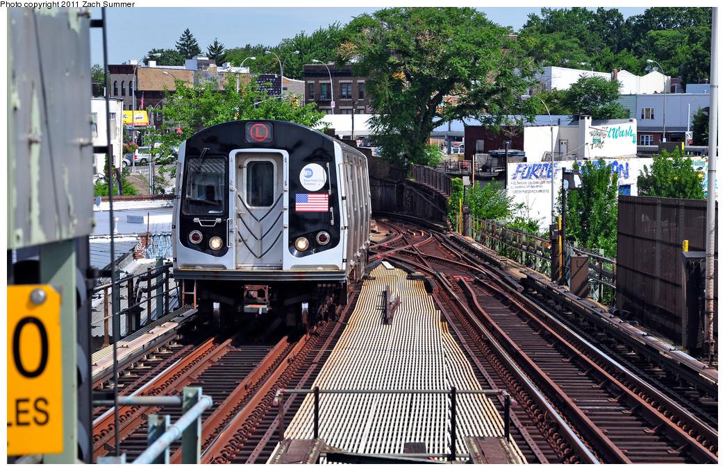 (533k, 1044x679)<br><b>Country:</b> United States<br><b>City:</b> New York<br><b>System:</b> New York City Transit<br><b>Line:</b> BMT Canarsie Line<br><b>Location:</b> Broadway Junction <br><b>Route:</b> L<br><b>Car:</b> R-143 (Kawasaki, 2001-2002) 8176 <br><b>Photo by:</b> Zach Summer<br><b>Date:</b> 7/28/2011<br><b>Viewed (this week/total):</b> 2 / 1237