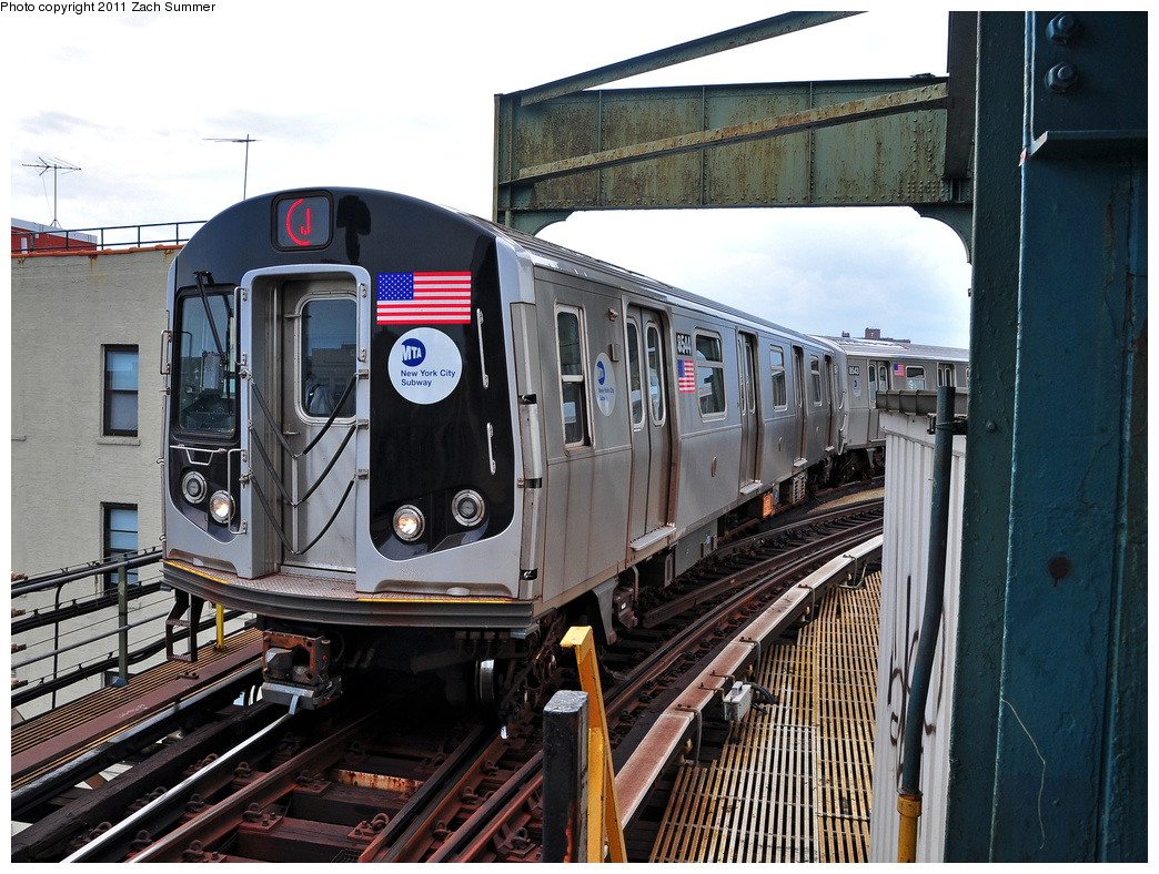 (422k, 1044x788)<br><b>Country:</b> United States<br><b>City:</b> New York<br><b>System:</b> New York City Transit<br><b>Line:</b> BMT Nassau Street/Jamaica Line<br><b>Location:</b> Alabama Avenue <br><b>Route:</b> J<br><b>Car:</b> R-160A-1 (Alstom, 2005-2008, 4 car sets)  8544 <br><b>Photo by:</b> Zach Summer<br><b>Date:</b> 7/28/2011<br><b>Viewed (this week/total):</b> 2 / 1124