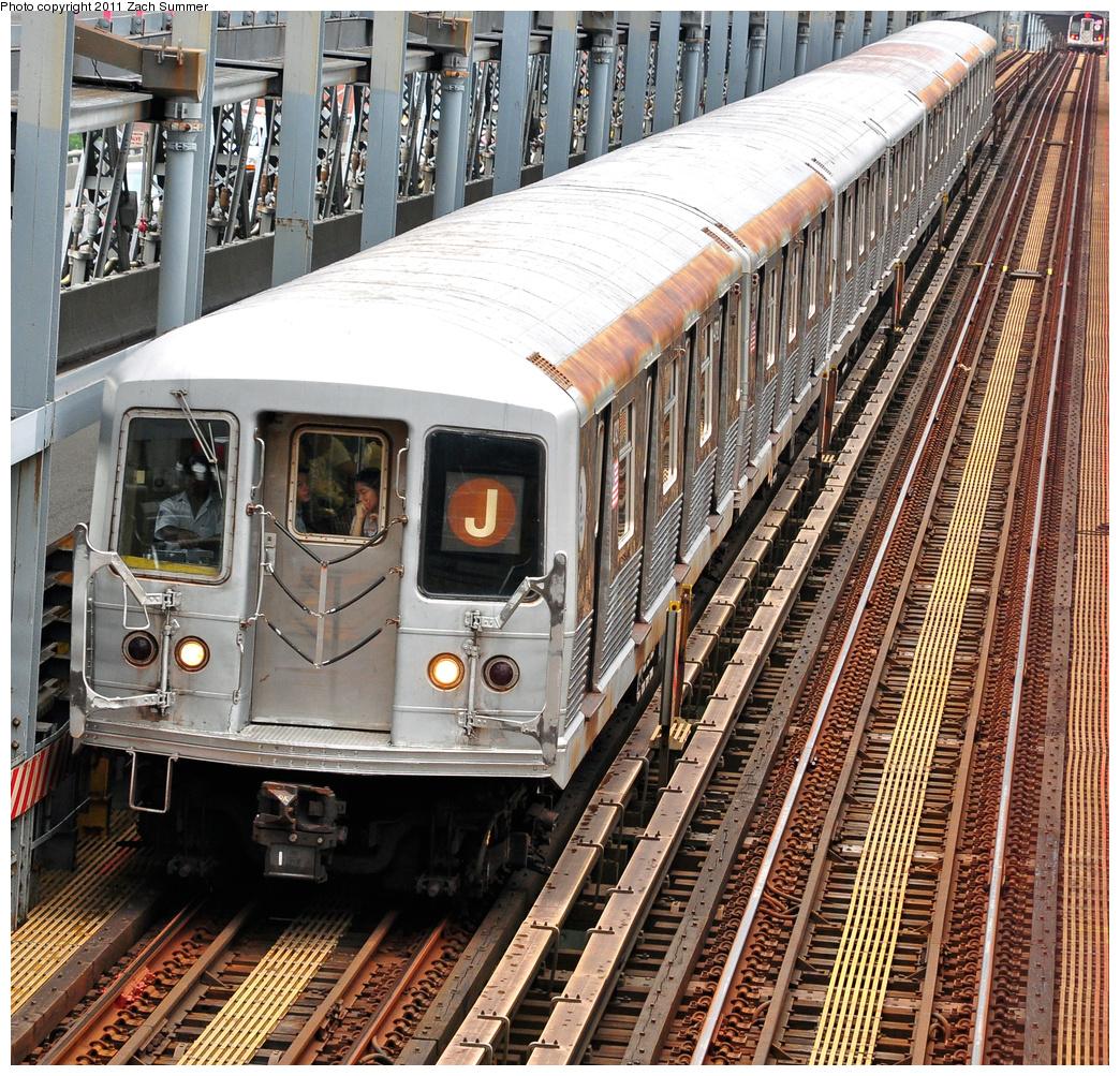 (719k, 1044x1003)<br><b>Country:</b> United States<br><b>City:</b> New York<br><b>System:</b> New York City Transit<br><b>Line:</b> BMT Nassau Street/Jamaica Line<br><b>Location:</b> Williamsburg Bridge<br><b>Route:</b> J<br><b>Car:</b> R-42 (St. Louis, 1969-1970)  4792 <br><b>Photo by:</b> Zach Summer<br><b>Date:</b> 7/28/2011<br><b>Viewed (this week/total):</b> 2 / 985