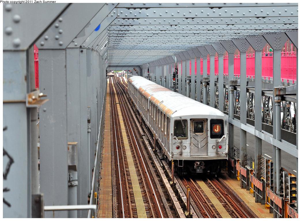 (492k, 1044x766)<br><b>Country:</b> United States<br><b>City:</b> New York<br><b>System:</b> New York City Transit<br><b>Line:</b> BMT Nassau Street/Jamaica Line<br><b>Location:</b> Williamsburg Bridge<br><b>Route:</b> J<br><b>Car:</b> R-42 (St. Louis, 1969-1970)   <br><b>Photo by:</b> Zach Summer<br><b>Date:</b> 7/28/2011<br><b>Viewed (this week/total):</b> 0 / 1005