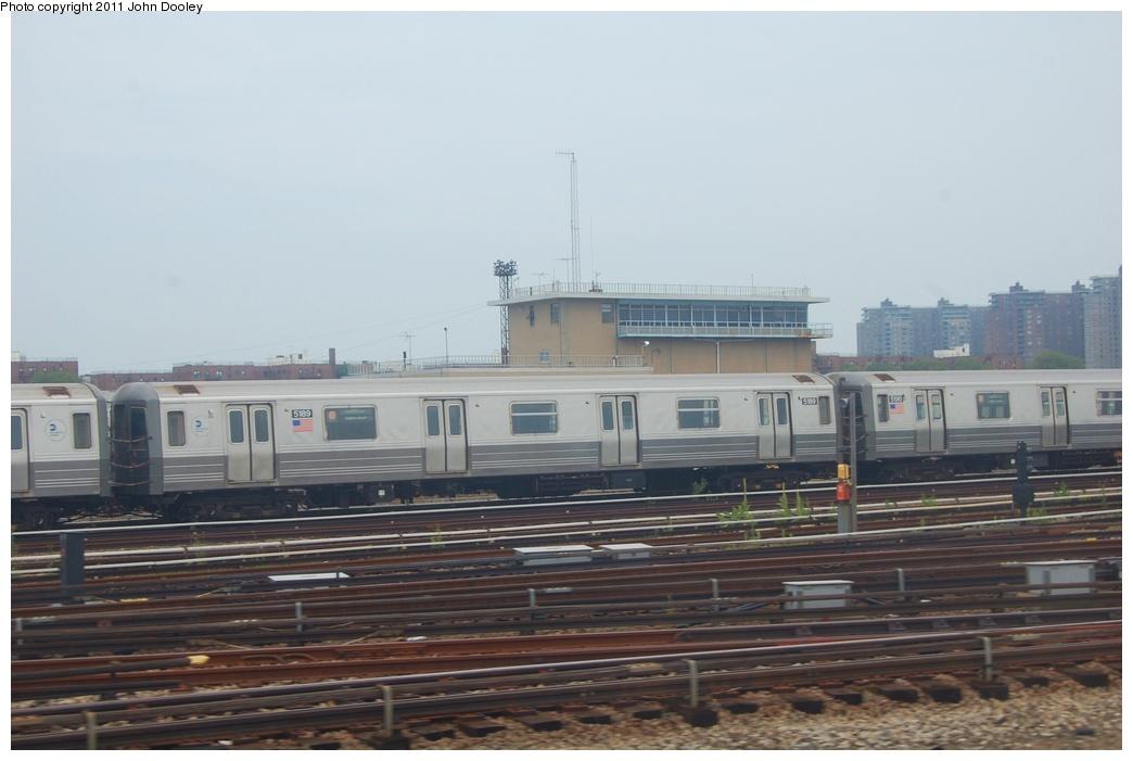 (233k, 1044x701)<br><b>Country:</b> United States<br><b>City:</b> New York<br><b>System:</b> New York City Transit<br><b>Location:</b> Coney Island Yard<br><b>Car:</b> R-68A (Kawasaki, 1988-1989)  5189 <br><b>Photo by:</b> John Dooley<br><b>Date:</b> 6/28/2011<br><b>Viewed (this week/total):</b> 0 / 825