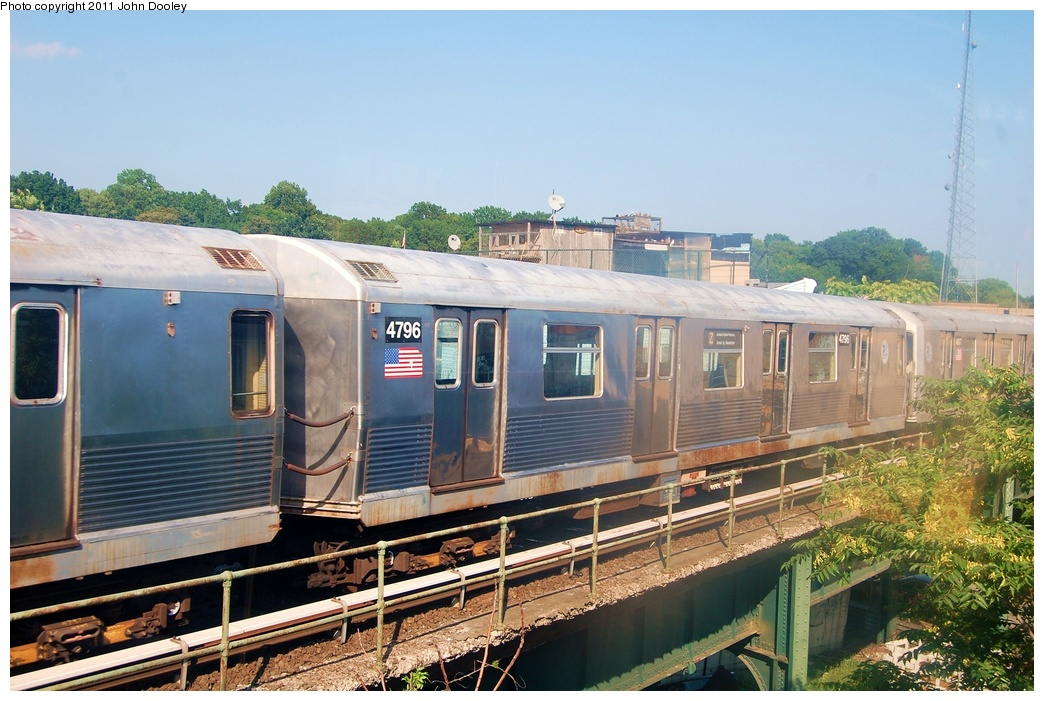 (333k, 1044x701)<br><b>Country:</b> United States<br><b>City:</b> New York<br><b>System:</b> New York City Transit<br><b>Location:</b> East New York Yard/Shops<br><b>Car:</b> R-42 (St. Louis, 1969-1970)  4796 <br><b>Photo by:</b> John Dooley<br><b>Date:</b> 8/17/2011<br><b>Viewed (this week/total):</b> 1 / 632