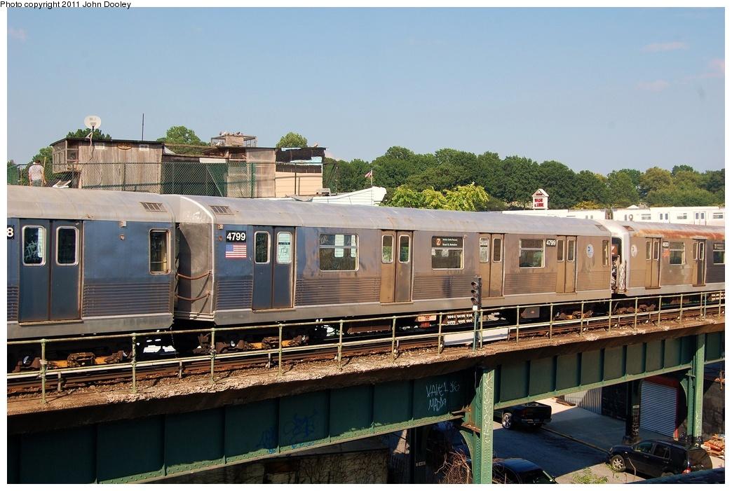 (332k, 1044x701)<br><b>Country:</b> United States<br><b>City:</b> New York<br><b>System:</b> New York City Transit<br><b>Location:</b> East New York Yard/Shops<br><b>Car:</b> R-42 (St. Louis, 1969-1970)  4799 <br><b>Photo by:</b> John Dooley<br><b>Date:</b> 8/17/2011<br><b>Viewed (this week/total):</b> 0 / 508