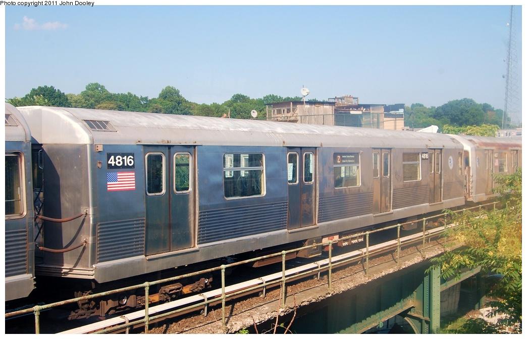 (308k, 1044x671)<br><b>Country:</b> United States<br><b>City:</b> New York<br><b>System:</b> New York City Transit<br><b>Location:</b> East New York Yard/Shops<br><b>Car:</b> R-42 (St. Louis, 1969-1970)  4816 <br><b>Photo by:</b> John Dooley<br><b>Date:</b> 8/17/2011<br><b>Viewed (this week/total):</b> 0 / 550
