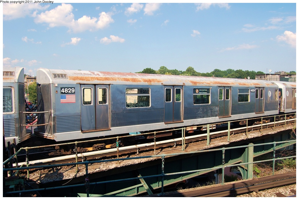 (341k, 1044x701)<br><b>Country:</b> United States<br><b>City:</b> New York<br><b>System:</b> New York City Transit<br><b>Location:</b> East New York Yard/Shops<br><b>Car:</b> R-42 (St. Louis, 1969-1970)  4829 <br><b>Photo by:</b> John Dooley<br><b>Date:</b> 8/17/2011<br><b>Viewed (this week/total):</b> 0 / 669