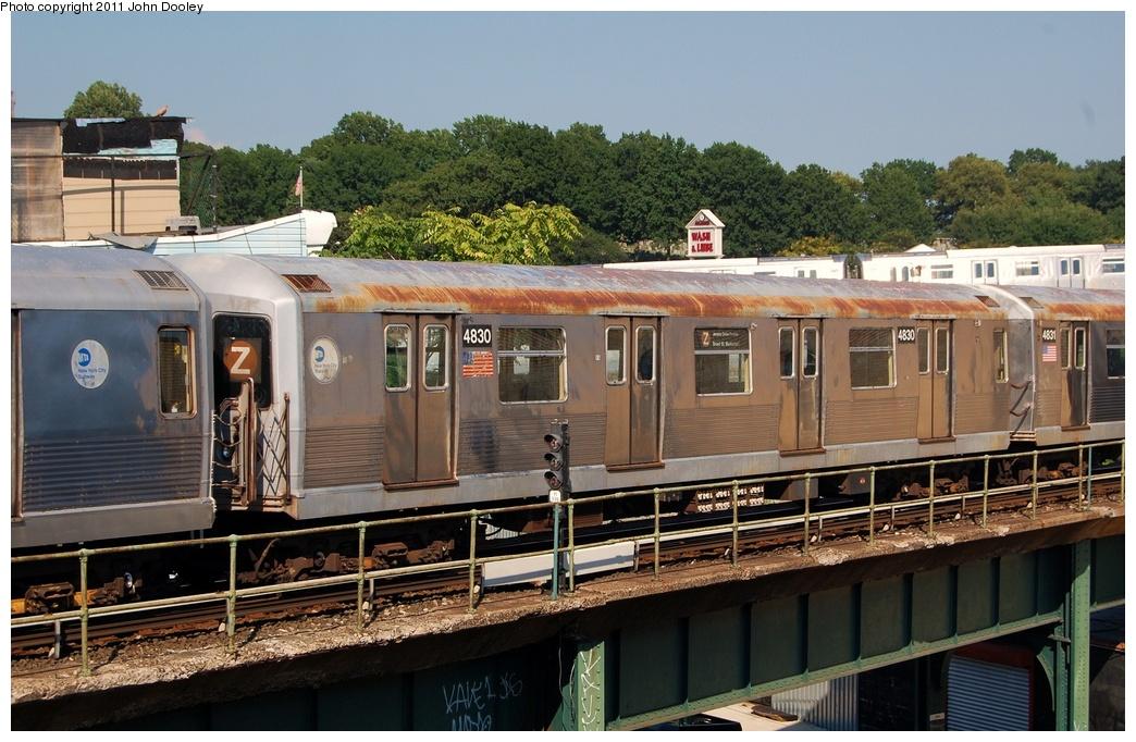 (337k, 1044x682)<br><b>Country:</b> United States<br><b>City:</b> New York<br><b>System:</b> New York City Transit<br><b>Location:</b> East New York Yard/Shops<br><b>Car:</b> R-42 (St. Louis, 1969-1970)  4830 <br><b>Photo by:</b> John Dooley<br><b>Date:</b> 8/17/2011<br><b>Viewed (this week/total):</b> 0 / 609