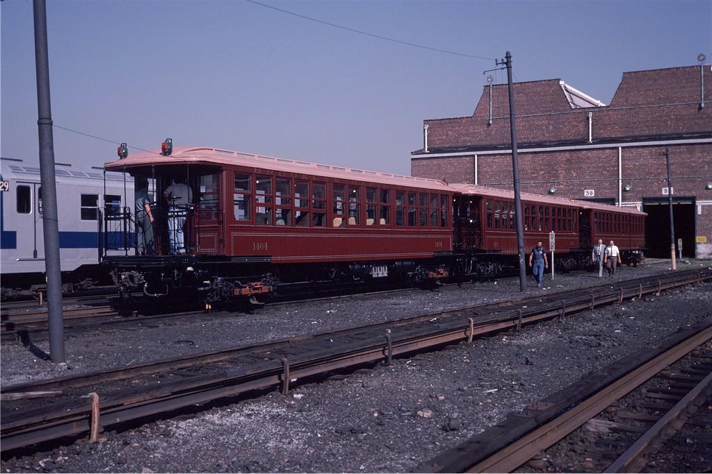 (213k, 1024x683)<br><b>Country:</b> United States<br><b>City:</b> New York<br><b>System:</b> New York City Transit<br><b>Location:</b> Coney Island Yard<br><b>Car:</b> BMT Elevated Gate Car 1404-1273-1407 <br><b>Photo by:</b> Steve Zabel<br><b>Collection of:</b> Joe Testagrose<br><b>Date:</b> 8/31/1979<br><b>Viewed (this week/total):</b> 0 / 449