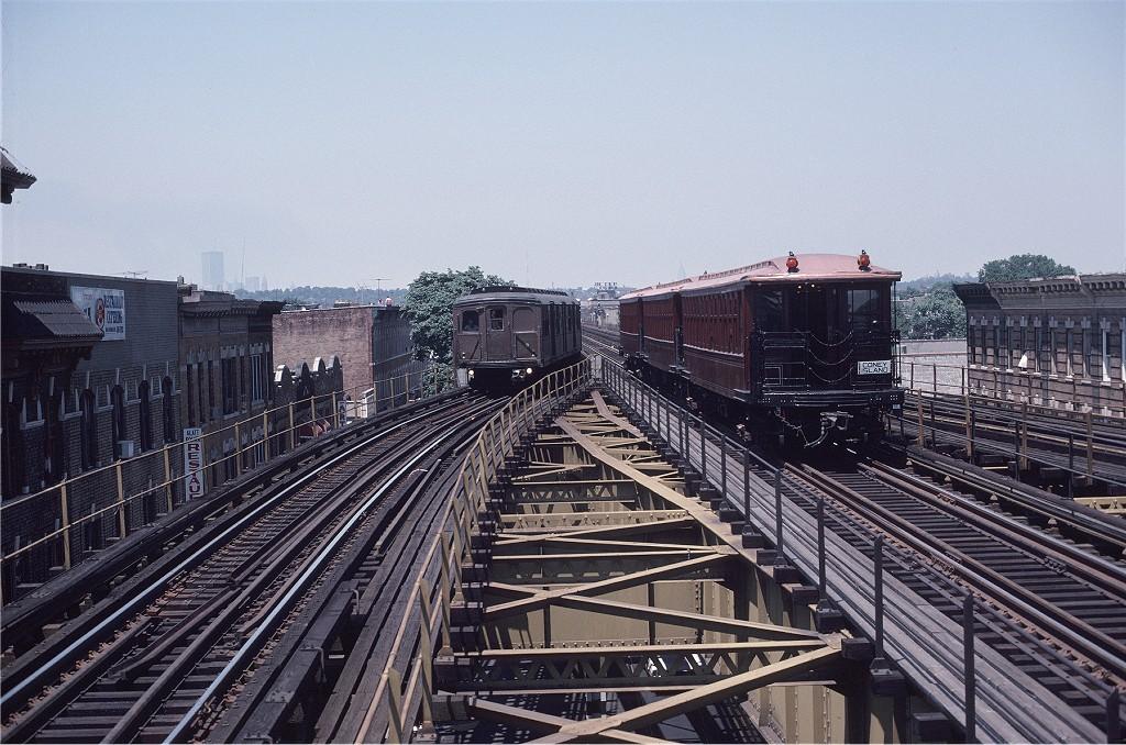 (236k, 1024x678)<br><b>Country:</b> United States<br><b>City:</b> New York<br><b>System:</b> New York City Transit<br><b>Line:</b> BMT Culver Line<br><b>Location:</b> 18th Avenue <br><b>Route:</b> Fan Trip<br><b>Car:</b> BMT Elevated Gate Car 1404-1273-1407 <br><b>Photo by:</b> Steve Zabel<br><b>Collection of:</b> Joe Testagrose<br><b>Date:</b> 7/4/1980<br><b>Viewed (this week/total):</b> 4 / 963