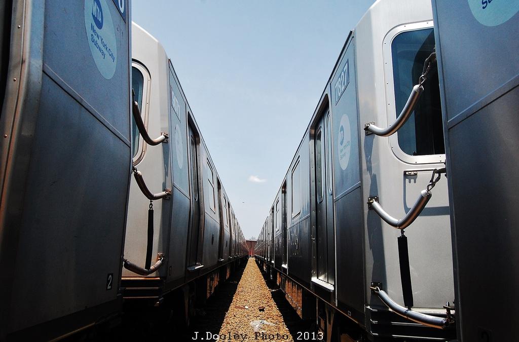 (284k, 1024x675)<br><b>Country:</b> United States<br><b>City:</b> New York<br><b>System:</b> New York City Transit<br><b>Location:</b> Coney Island Yard<br><b>Car:</b> R-188 (Kawasaki, 2012-) 7827 <br><b>Photo by:</b> John Dooley<br><b>Date:</b> 6/22/2013<br><b>Viewed (this week/total):</b> 0 / 886
